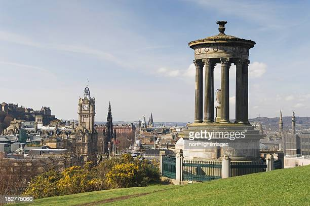 View of Edinburgh from Calton Hill garden