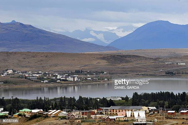 View of El Calafate 2800 km south from Buenos Aires taken from the hills behind the town February 27 2008 El Calafate a city of around 26000...