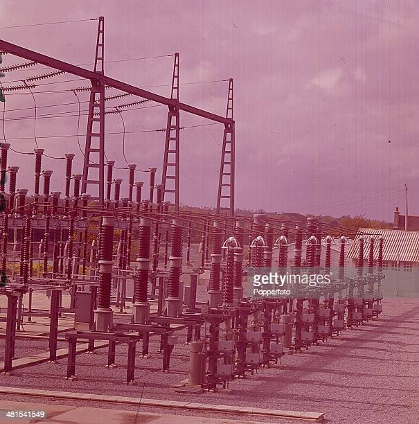 1968 View of electrical equipment in a substation at the Rance Tidal Power Station in Brittany France in 1968