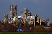 A view of Ely Cathedral on March 5 2009 in Ely England