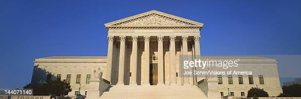 View of entire US Supreme Court Building Washington DC