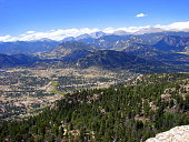 View of part of Estes Park, Colorado, from the Hermit Park summit