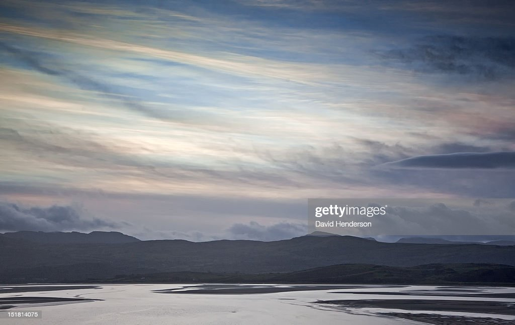 View of estuary in North Wales at dawn : Stock Photo