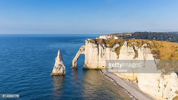 View of Etretat by day ( Normandy , France )