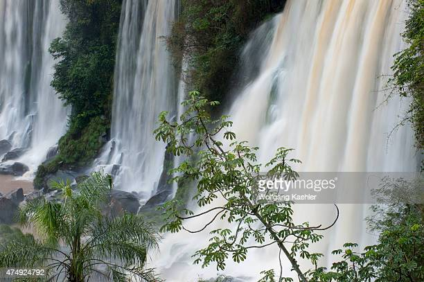 View of Eva and Bossetti Falls one of the waterfalls of Iguassu Falls on the Argentine side of Iguassu National Park