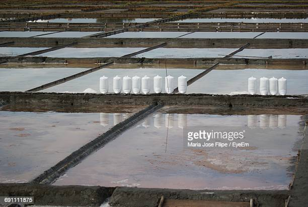 View Of Evaporation Ponds