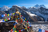 View of Everest from Gokyo ri . Nepal