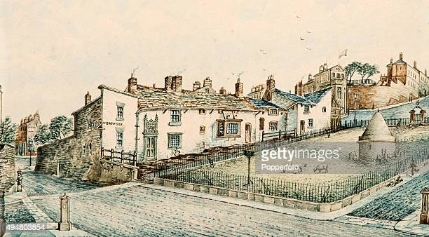A view of Everton Brow including Mary Cooper's Toffee Shop and Prince Rupert's Tower circa 1850 Encapsulating the early history of the district of...