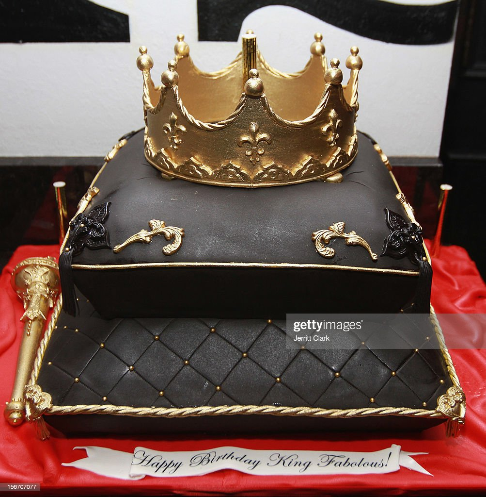 View of <a gi-track='captionPersonalityLinkClicked' href=/galleries/search?phrase=Fabolous&family=editorial&specificpeople=215255 ng-click='$event.stopPropagation()'>Fabolous</a>' cake at his Private Birthday Dinner at RSVP on November 18, 2012 in New York City.