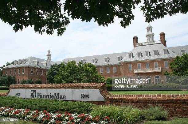 A view of Fannie Mae headquarters is seen on July 14 2008 in Washington DC Shares in Fannie Mae and Freddie Mac appeared to steady Monday after a...