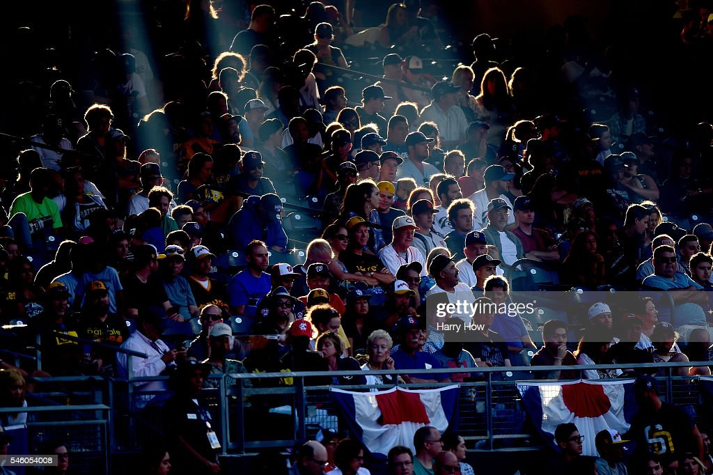 A view of fans watching the game during the SiriusXM All-Star Futures Game at PETCO Park on July 10, 2016 in San Diego, California.