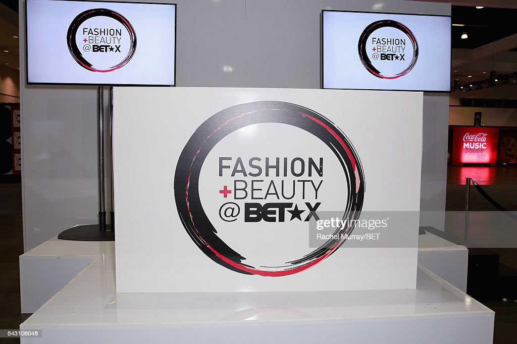 A view of Fashion And Beauty @BETX signage is displayed at Fashion And Beauty @BETX presented by Progressive, Covergirl, Strength of Nature, Korbel and Macy's during the 2016 BET Experience on June 25, 2016 in Los Angeles, California.