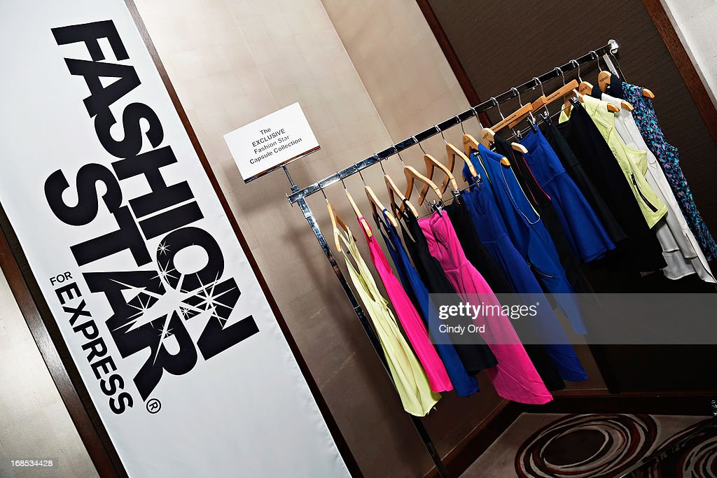 A view of 'Fashion Star' winner Hunter Bell's capsule collection for Express as Express hosts a breakfast to honor the winner of NBC's 'Fashion Star' on May 10, 2013 in New York City.
