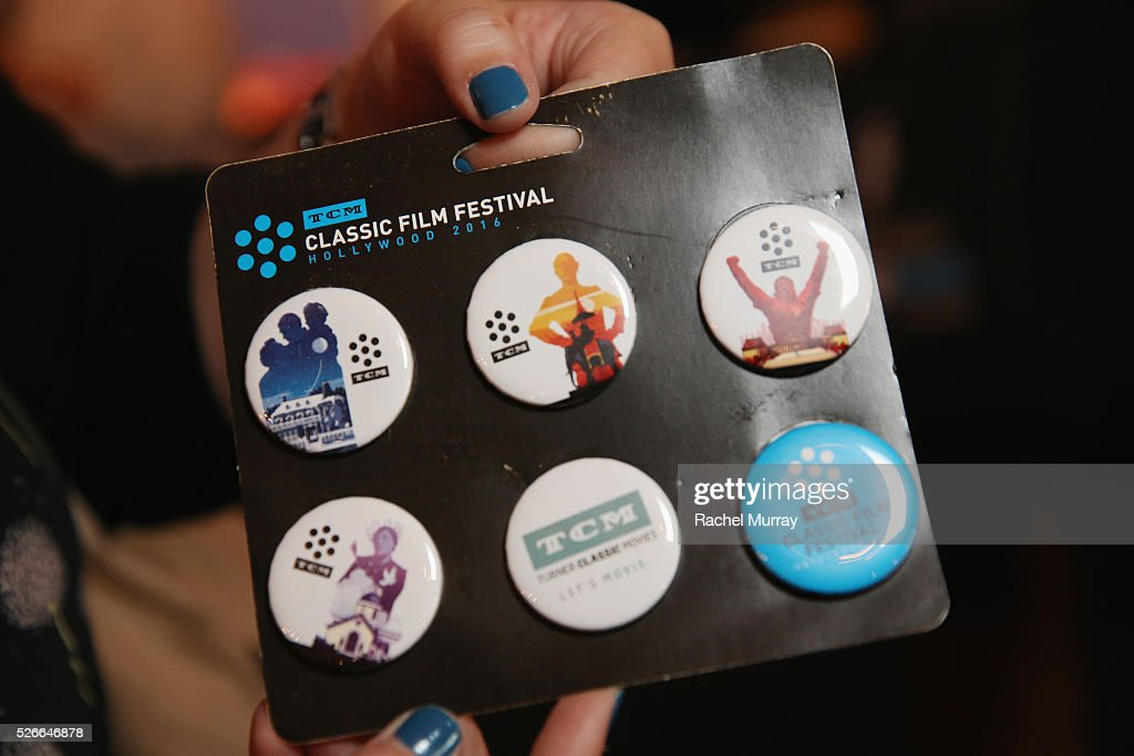 A view of festival buttons at Rita Moreno book signing during day 3 of the TCM Classic Film Festival 2016 on April 30, 2016 in Los Angeles, California. 25826_007