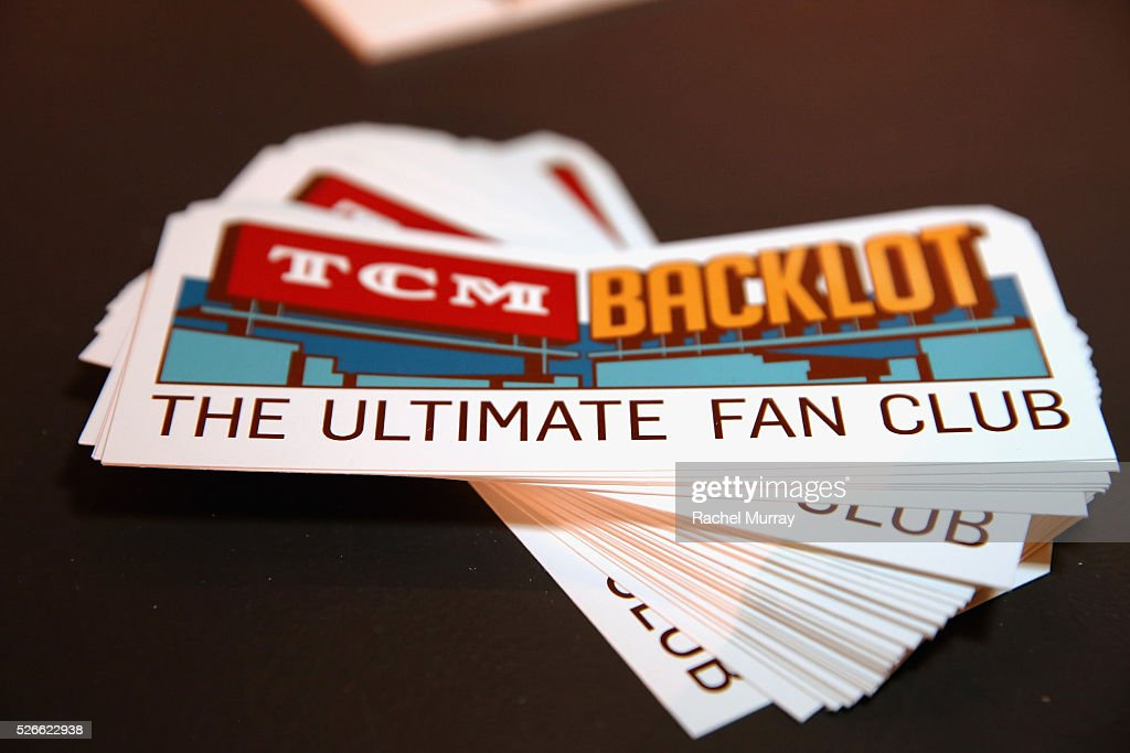 A view of festival stickers at Cari Beauchamp book signing during day 3 of the TCM Classic Film Festival 2016 on April 30, 2016 in Los Angeles, California. 25826_007