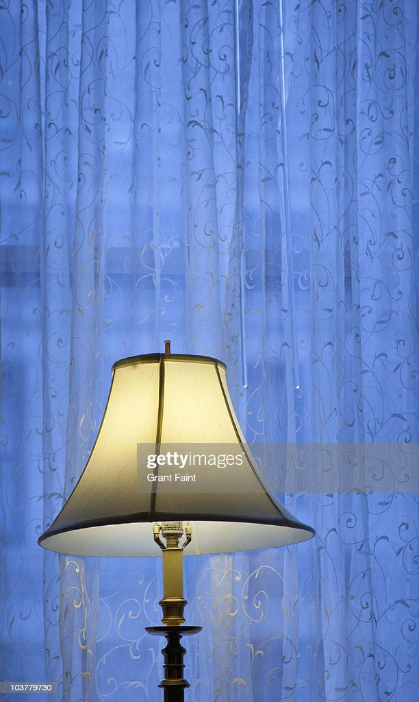 view of floor lamp : Stock Photo