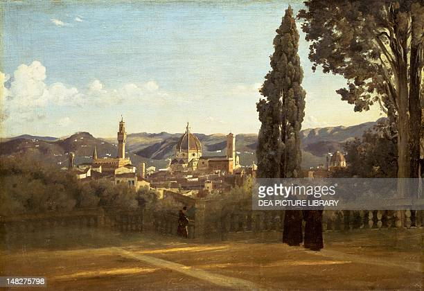 View of Florence from the Boboli Gardens ca 1834 by JeanBaptisteCamille Corot oil on canvas 51x73 cm Paris Musée D'Orsay