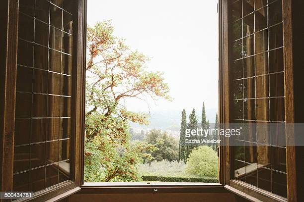 View of Florence through window
