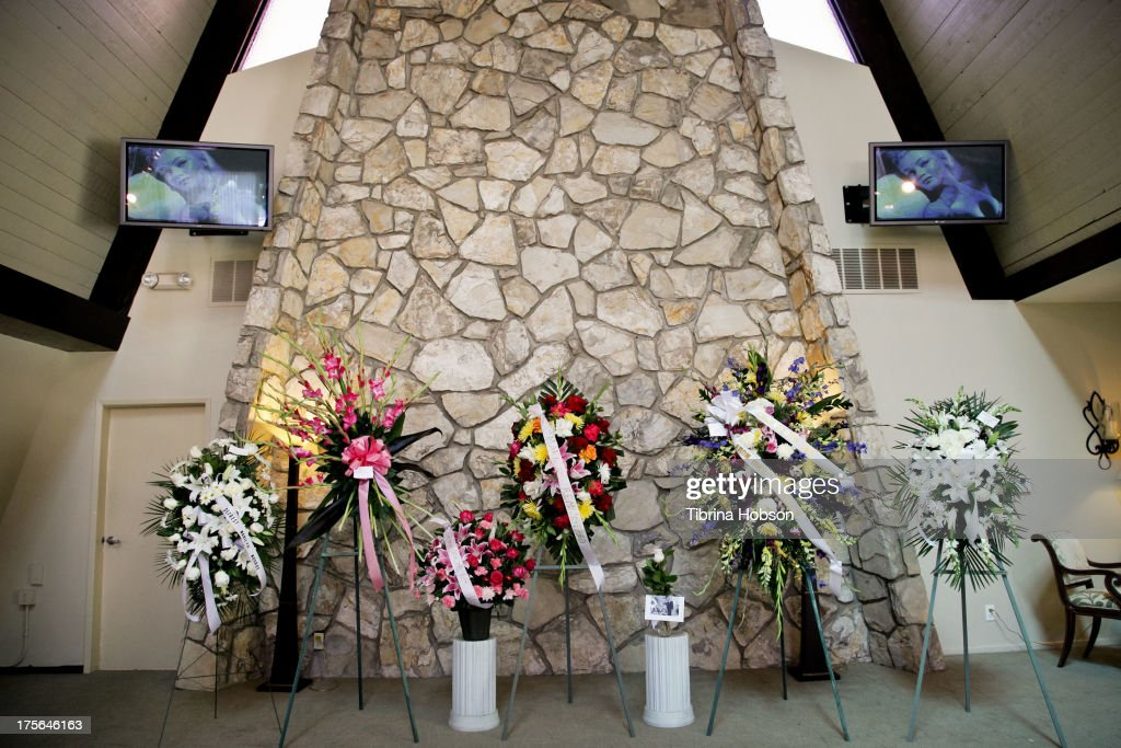 View of flowers at the annual Marilyn Monroe Memorial Service at Pierce Brothers Westwood Village Memorial Park on August 5, 2013 in Westwood, California.
