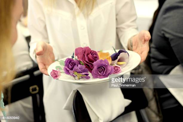 A view of flowers for cake decorating at Cake Decorating Master Class hosted by Sylvia Weinstock at Institute of Culinary Education on October 16...