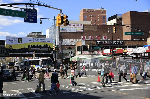 View of Flushing Chinatown
