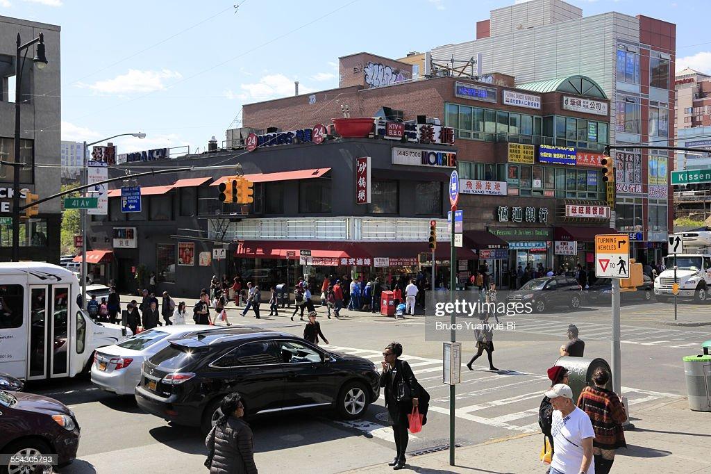 View of Flushing Chinatown