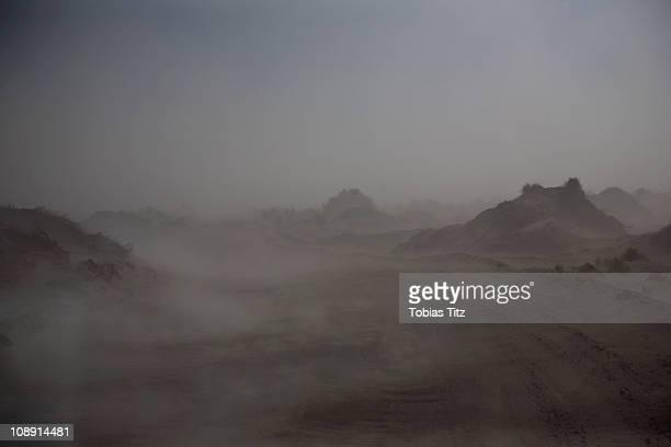 View of fog across the Atacama Desert, Chile