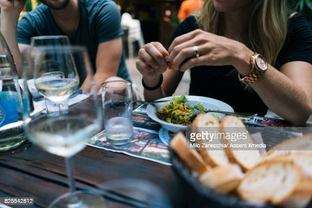 View of food on table, outdoor restaurant