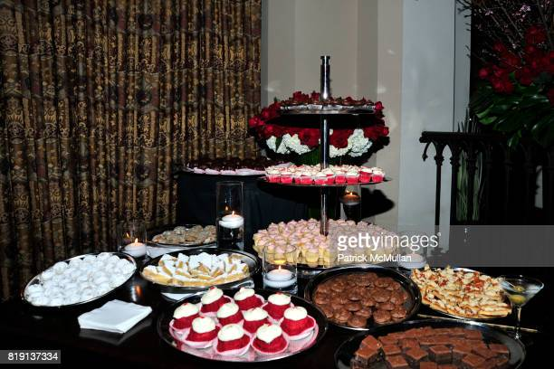 View of food spread at NICOLAS BERGGRUEN's 2010 Annual Party at the Chateau Marmont on March 3 2010 in West Hollywood California