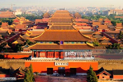 View of Forbidden city in Beijing