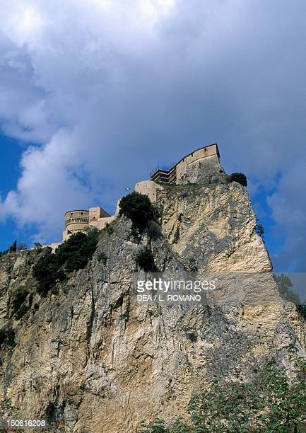 View of Fortress of San Leo Marche Italy 15th century