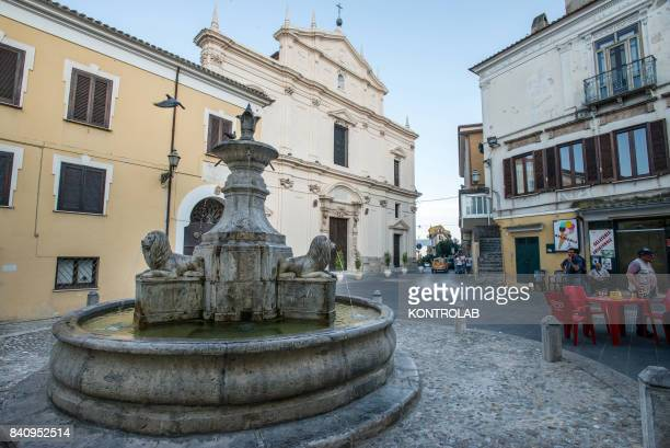 A view of Fountain of the three lions of Cassano allo Ionio in Calabria southern Italy