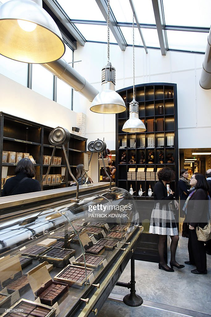 A view of French chef Alain Ducasse's new establishment, the 'Manufacture de chocolat' (Chocolate Factory), taken on February 19, 2013 in Paris.