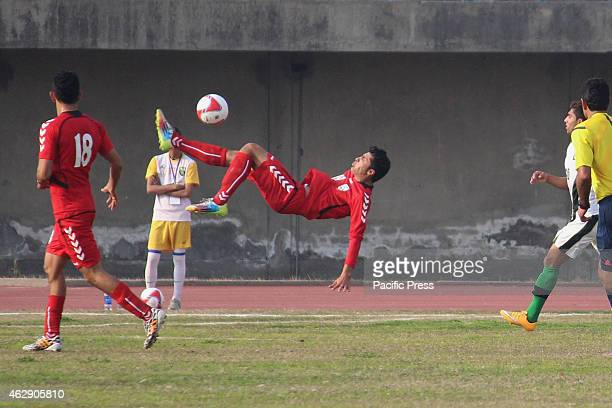 A view of friendly soccer football match between Pakistan and Afghanistan played at the Punjab stadium Pakistan beat Afghanistan 21 in the friendly...