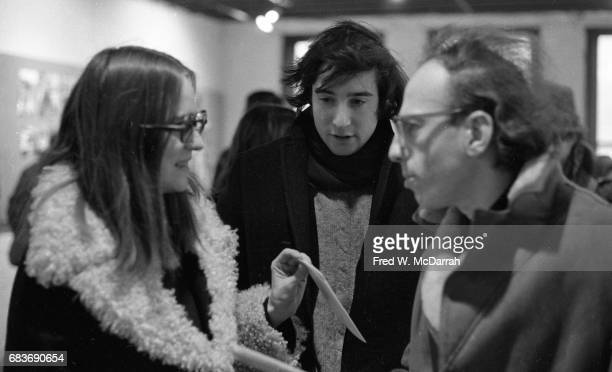 View of from left Germanborn American editor and arts administrator Annette Kuhn American journalist and editor Howard Blum and Austrianborn American...