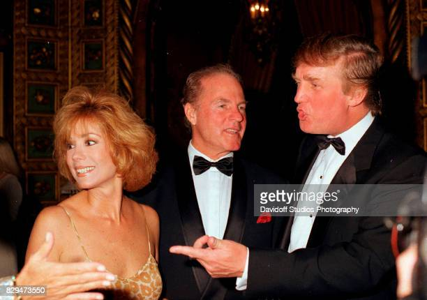 View of from left married couple television host Kathie Lee Gifford and sports broadcaster former football player Frank Gifford along with real...