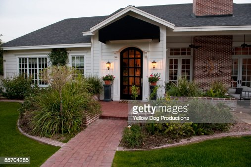View of Front Entryway to Home : Stock Photo