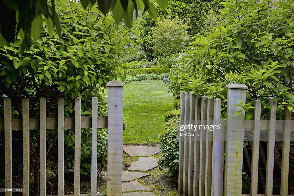 View of garden's gate