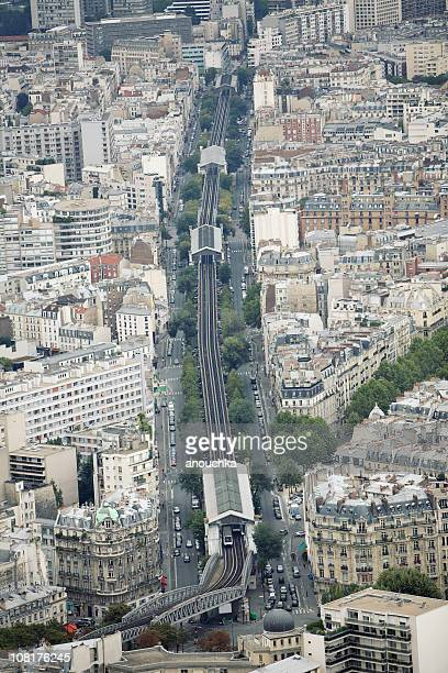 View of Gare Montparnasse, Paris Cityscape with Trains and Buildings
