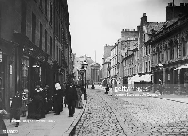 A view of George Street Perth Scotland circa 1890