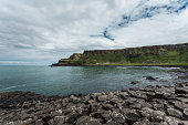 View of Giants Causeway, Bushmills, County Antrim, Northern Ireland, UK