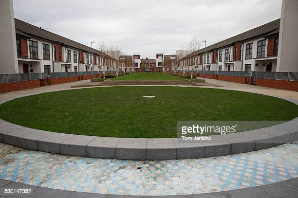 A view of Gibson's Green and the centre circle in the new housing development where Manchester City's old ground Maine Road stood on November 27th...