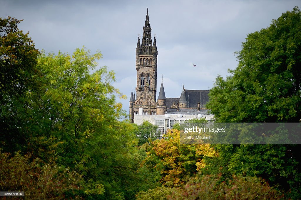 A view of Glasgow University tower from Kelvingrove Park on September 30 2014 in Glasgow Scotland The country is set to be the driest September since...