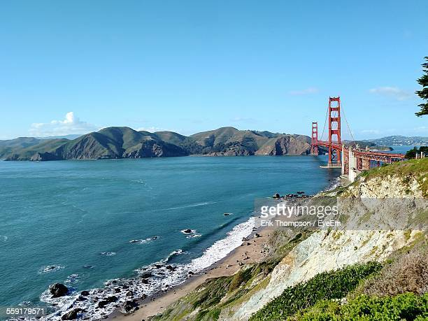View Of Golden Gate Bridge Over Bay