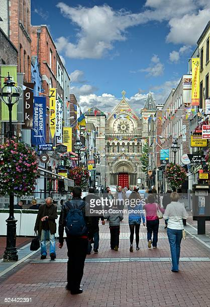 View of Grafton Street in Dublin Ireland