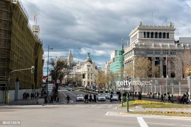 View of Gran Via Avenue, Madrid
