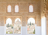 view of Granada from Alhambra windows