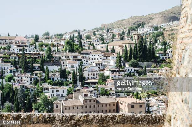 View of Granada from the highest part of the Alhambra,in Granada.