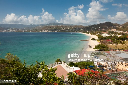 View of Grand Anse Bay and Beach near St. George's, Grenada
