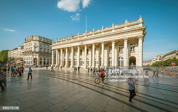 View of grand theatre, Bordeaux, Aquitaine, France